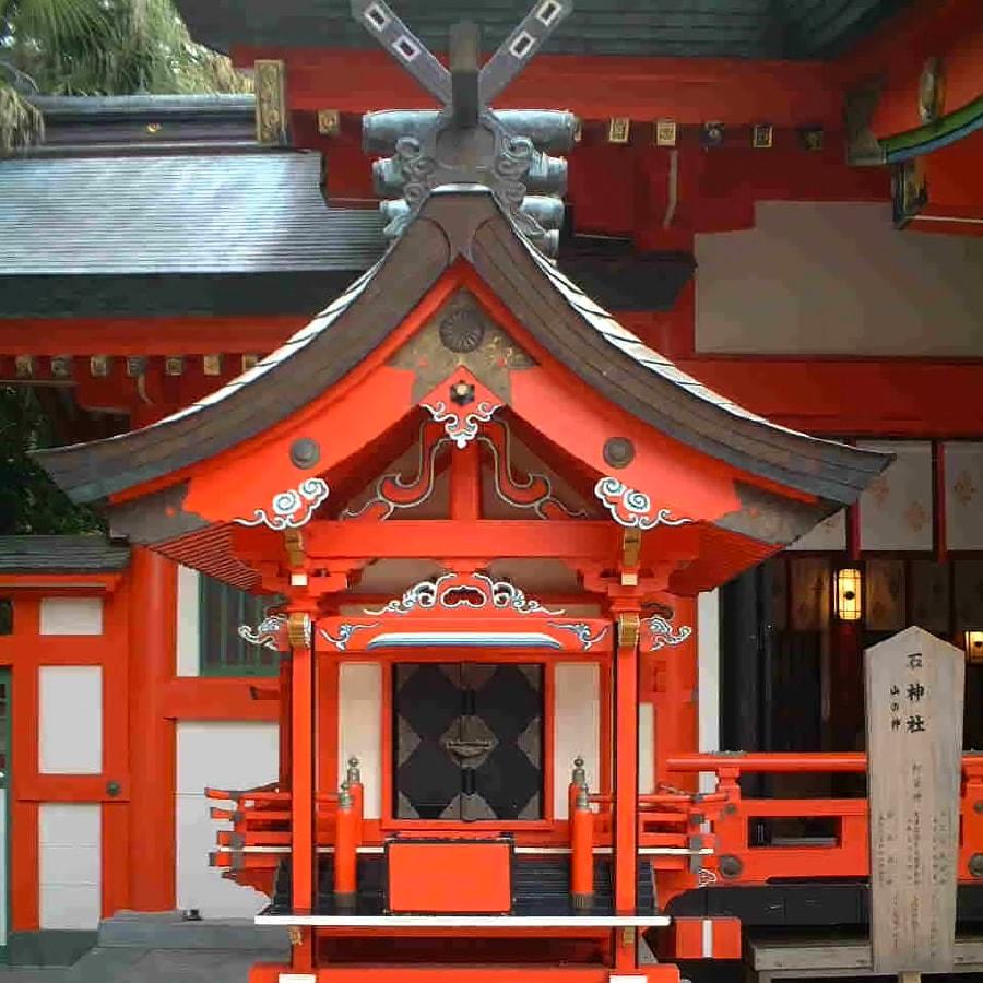 石神社境内写真